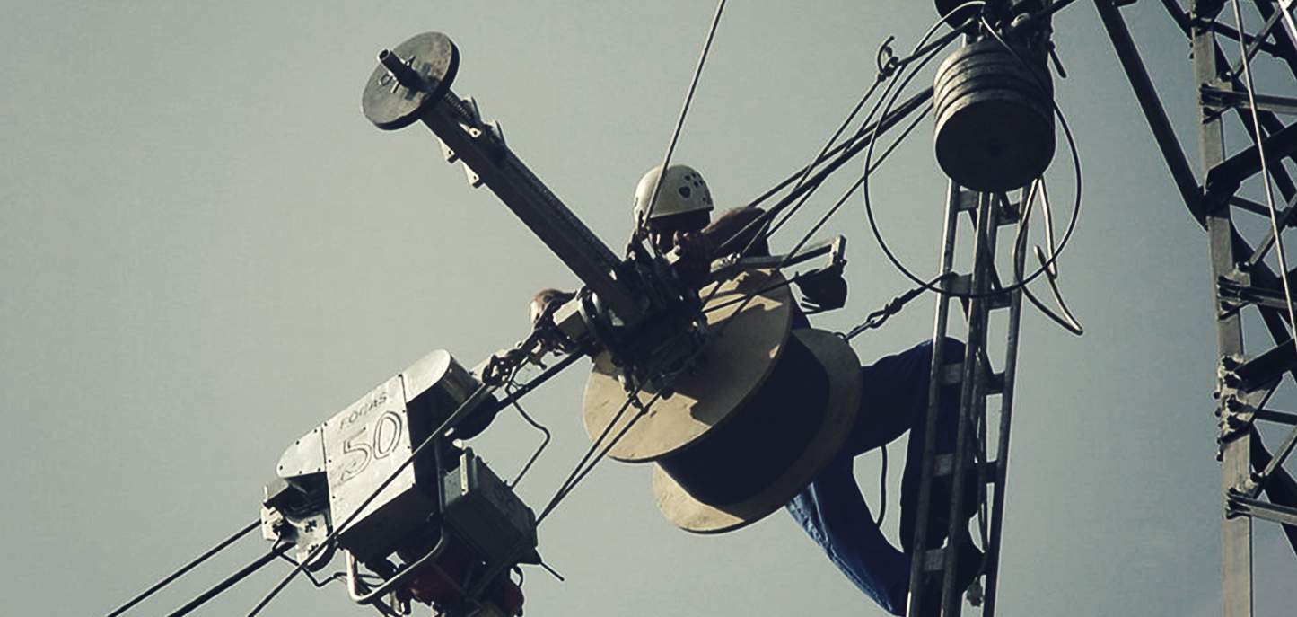 The beginning of data transfer through optical fibers wrapped around overhead-line 110 kV conductors